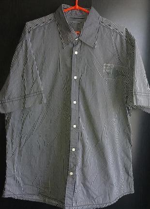 Angelo litrico c&a итальянская рубашка с коротким рукавом р.xxl