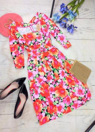 Яскрава сукня у квітковий принт (100% коттон, англія)