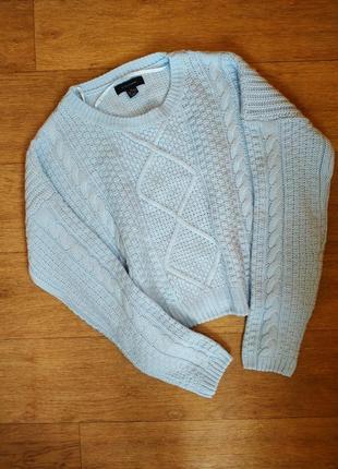 Женский свитер оверсайз красивого голубого цвета atmosphere
