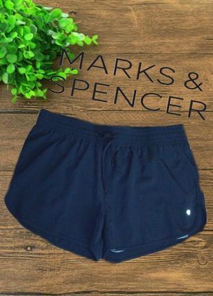 🐾marks&spencer eur44  шорты мужские спортивные кроткие с шортиками черные🐾