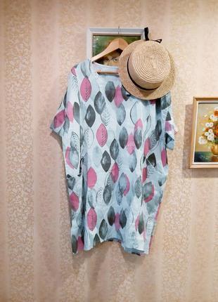 Льняное платье италия большого размера батал