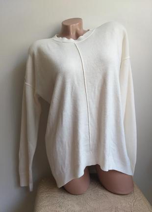 Лонгслив. свитер. пуловер. молочный, белый.