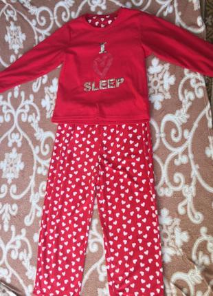 Пижама теплая большого размера