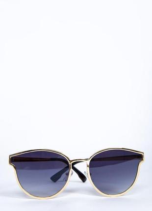 Очки женские солнцезащитные 154r001 цвет черно-золотистый