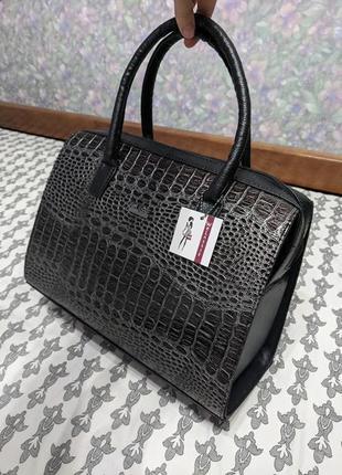 Вместительная женская сумка саквояж