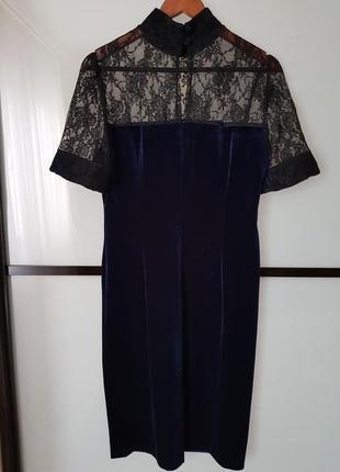 Платье нарядное, бархат и гепюр