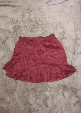 Летняя легкая юбка с рюшами