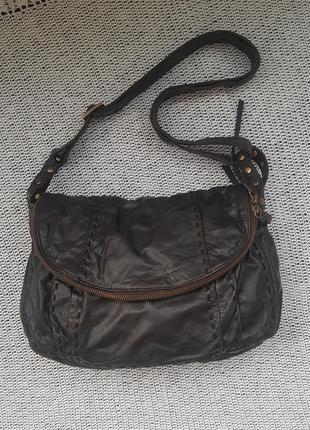 Next кожаная практичная сумка через плечо,кросс боди,шкіряна почтальонка