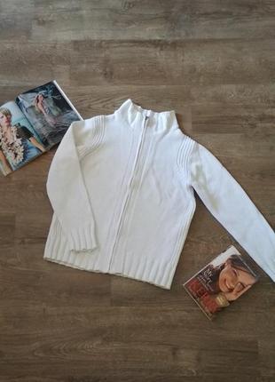Кофта белая вязанная petites, размер 44