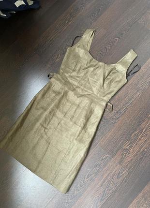 Уникальная вещь сарафан платье versace лён винтаж оригинал