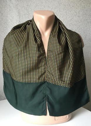 Винтажный мужской двойной шарф шёлк /шерсть