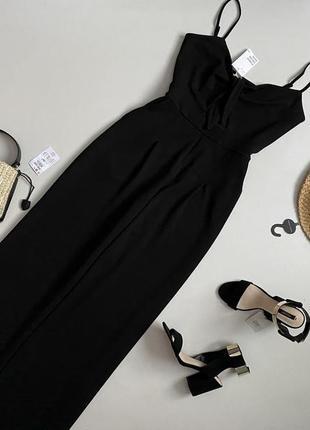 Новый роскошный брючный комбинезон с широкими штанами палаццо h&m