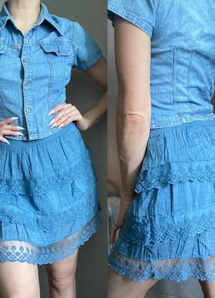 Италия шелковая юбка
