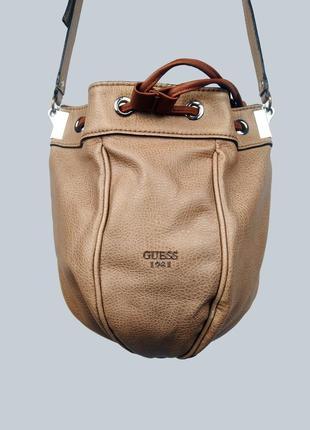 Женская сумка на плечо, бежевая, guess (оригинальная)