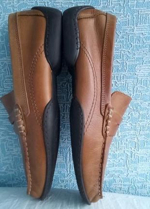 Кожаные туфли мокасины roland 42 размер стелька 28 см