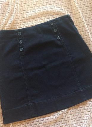 Джинсовая юбка трапеция с пуговицами red herring от debenhams