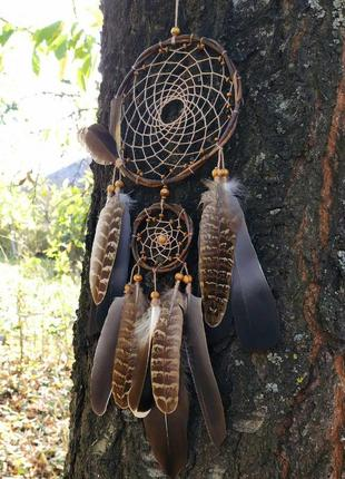 Натуральный ловец снов из ивы. оригинальный подарок