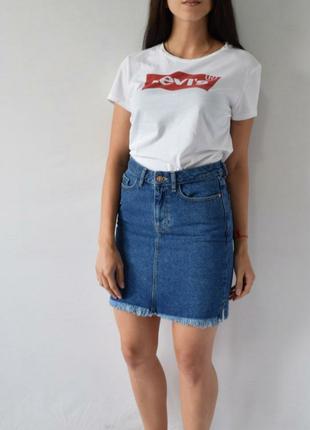 Крутая джинсовая юбка h&m