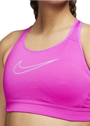 Женское спортивное бра топ nike impact огненно - розовый - fire pink / barely rose