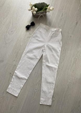 Стильные высокие брендовые брюки mexx, коттон