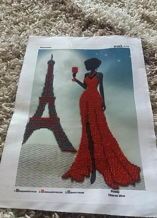 Картина парижанка 20×25