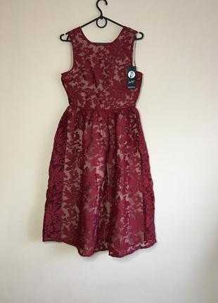 Кружевное платье boohoo