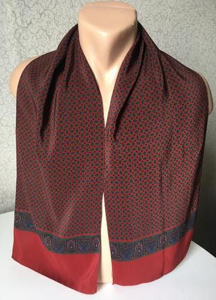 Статусный итальянский шелковый шарф 34*134