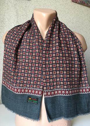 Статусный солидный короткий немецкий мужской шарф
