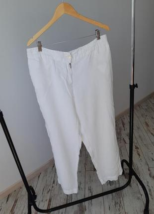 Штаны из уникального материала рами(крапива) marina rinaldi max mara