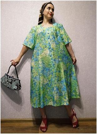 Платье винтаж ❤️ большой размер ,батал!
