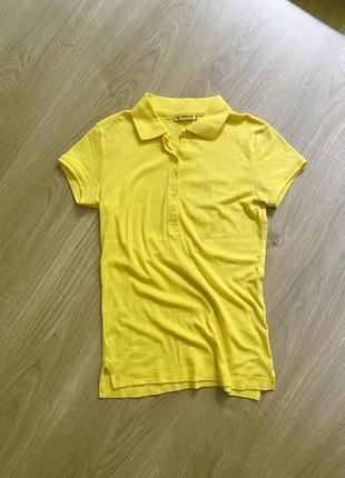 Поло желтое футболка желтая