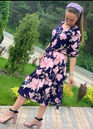 Романтична шифонова сукня