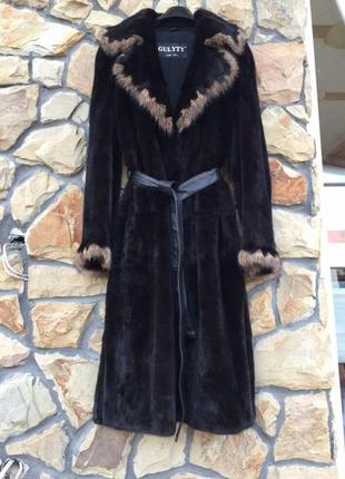 Норковая шуба халат, nafa, итальянская норка