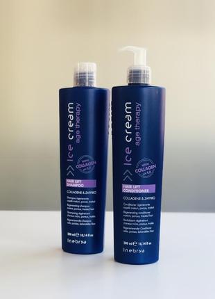 Набір для зрілого та пористого волосся inebrya hair lift 2 позиції