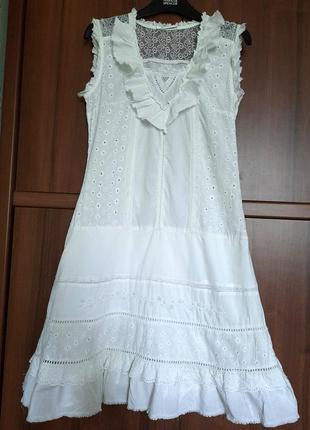 Нарядное белое платье французского бренда promod, разм. s