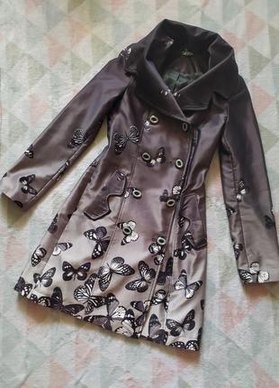 Плащ пиджак удлиненный красивый черный серый интересный