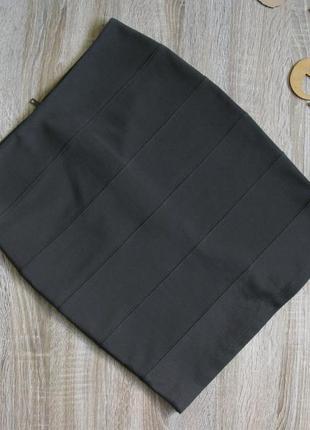 Темно серая юбка можно в офис eur 38