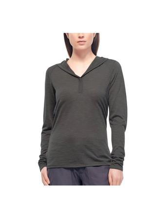 Женский шерстяной лонгслив худи icebreaker long sleeve hood sweater for ladies - s