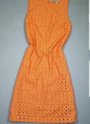 Яркое платье с вышивкой/прошва papaya p.s