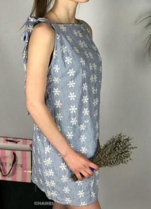Натуральное платье с вышивкой asos p.m