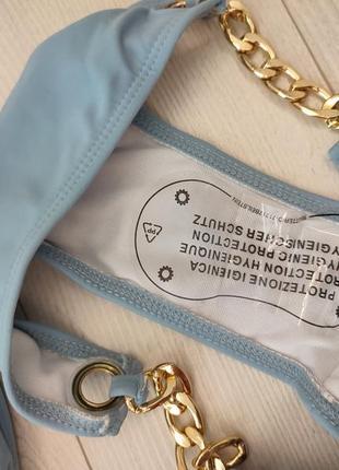 Сіро голубий блакитний купальник золота цепь цепочка якір корона6 фото