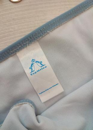 Сіро голубий блакитний купальник золота цепь цепочка якір корона4 фото