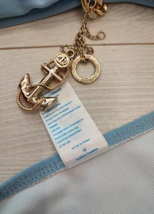 Сіро голубий блакитний купальник золота цепь цепочка якір корона5 фото