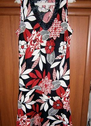 Красивое летнее платье из льна большого размера. размер 56-58. george