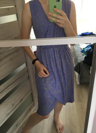 Очень красивое платье миди, тянется отлично