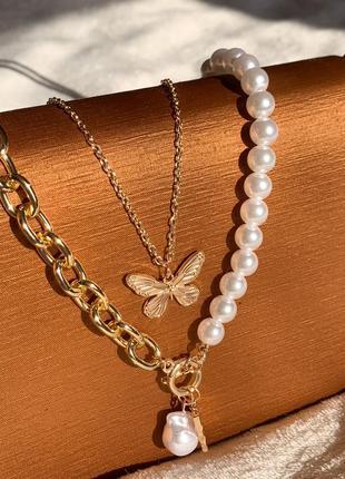 Двойное украшение с бабочкой