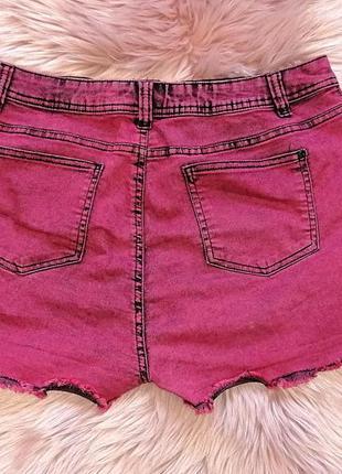Крутые стрейчевые джинсовые шорты градиент омбре потертости батал denim co (к073)3 фото