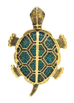 Брошь с кристаллами черепаха brbf111990