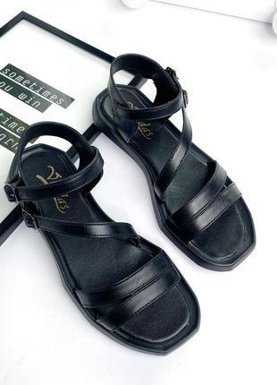 🔥 стильные кожаные босоножки с ремешками3 фото
