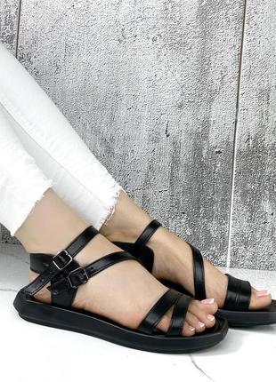 🔥 стильные кожаные босоножки с ремешками2 фото